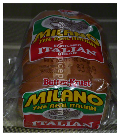 Loaf of Holsum Milano Italian Bread