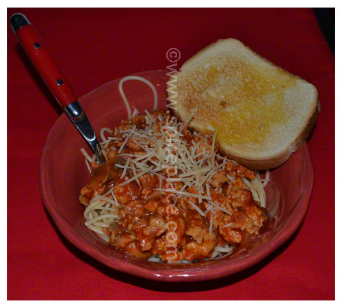 Spatini Spaghetti Sauce with Ground Chicken